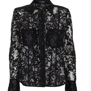 NWT Guess Button down Lace Shirt